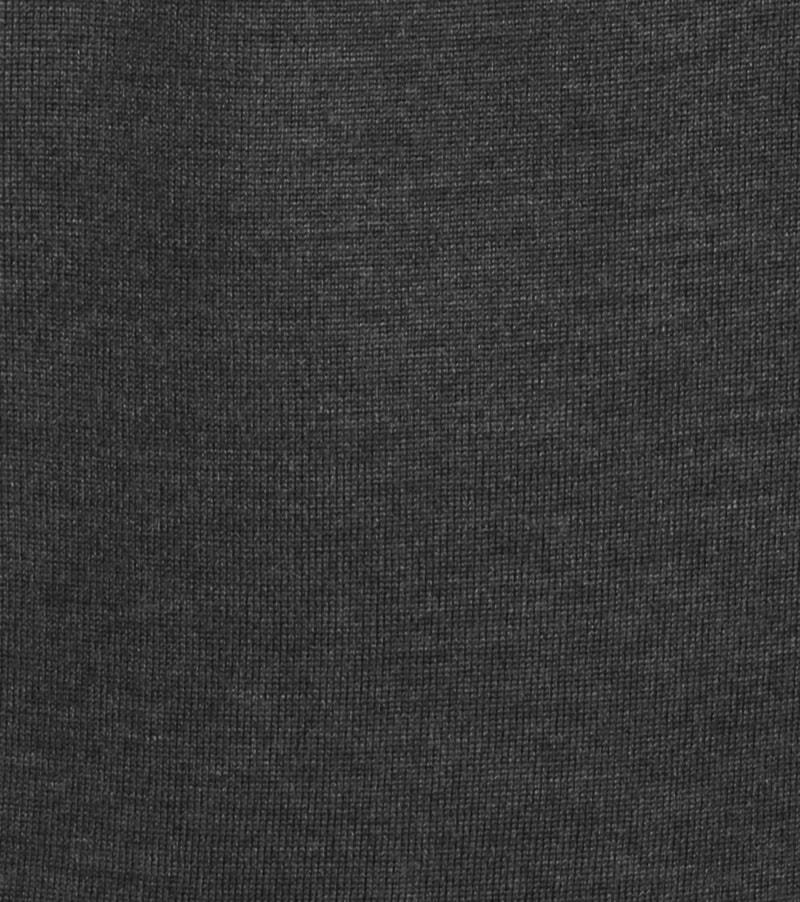 Detail Profuomo Pullover Merino V-Hals Antra