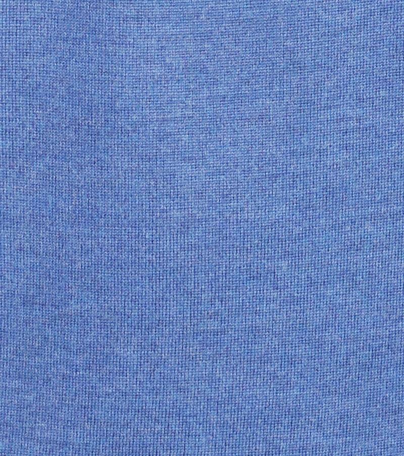 Detail Profuomo Pullover Merino V-Hals Blauw