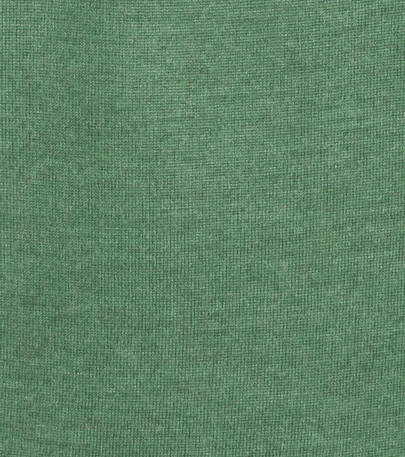 Detail Profuomo Pullover Merino V-Hals Groen