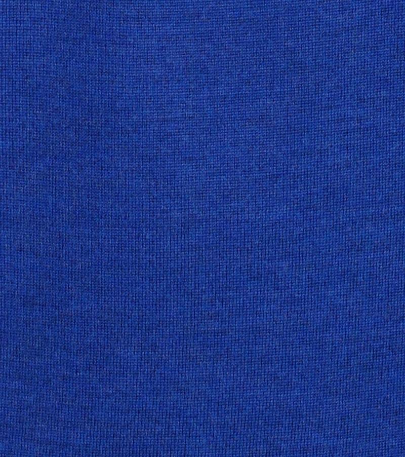 Detail Profuomo Pullover Merino V-Hals Royal