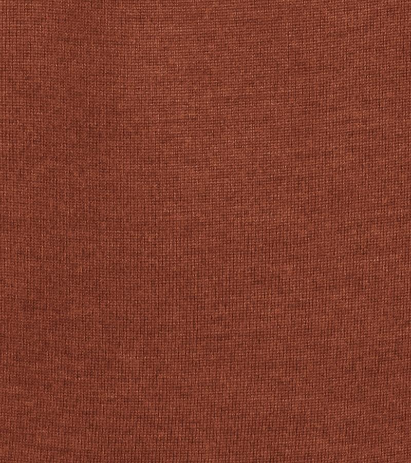 Detail Profuomo Pullover Merino V-Hals Rust