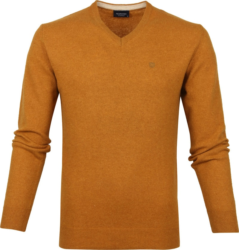 Profuomo Pullover Mosterdgeel