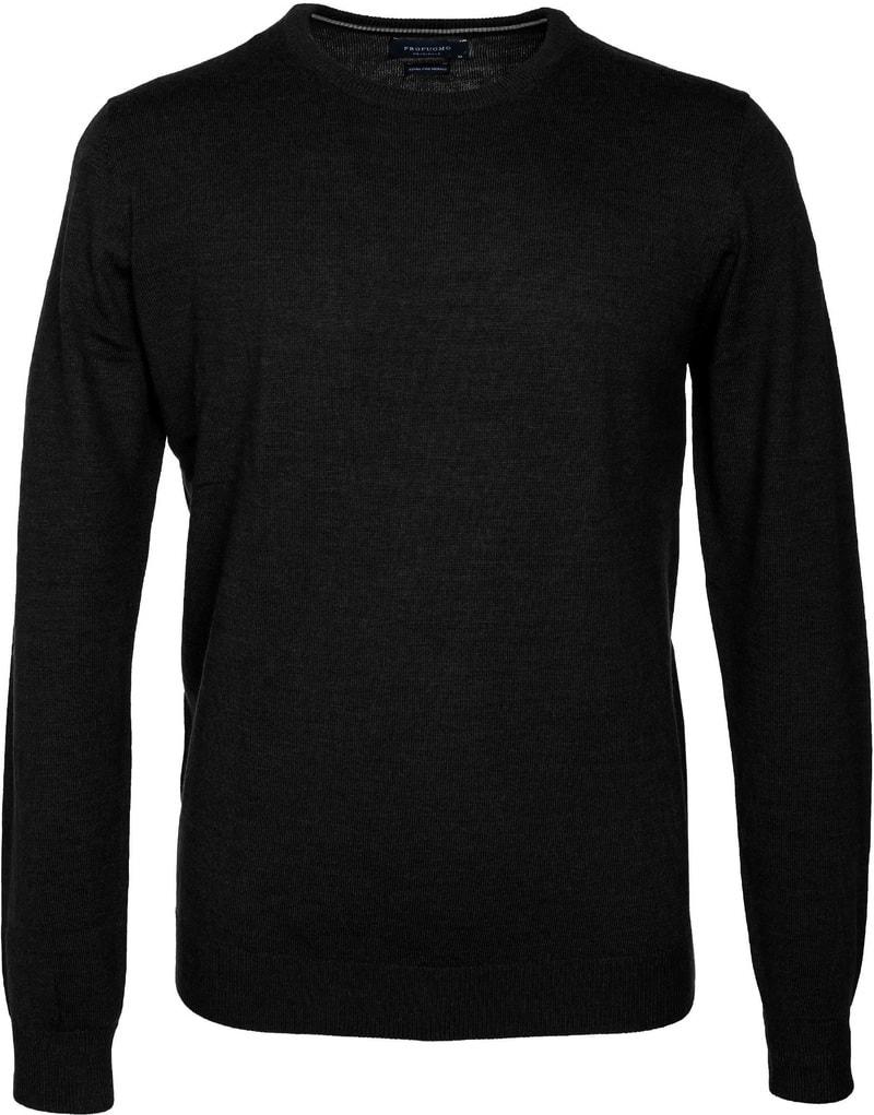Profuomo Pullover O-Hals Zwart  online bestellen | Suitable