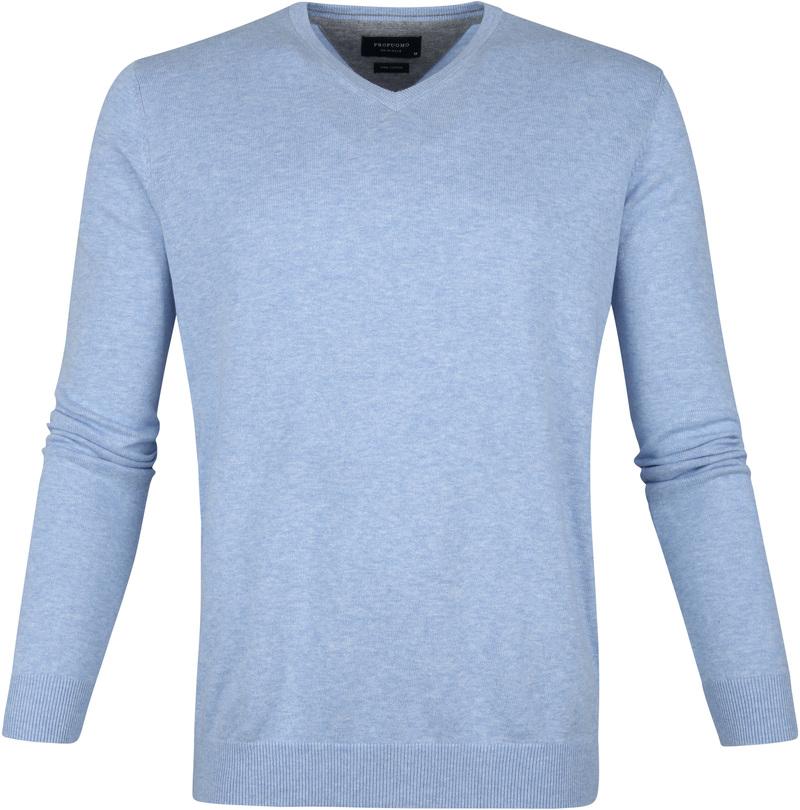 Profuomo Pullover V-Neck Light Blue photo 0