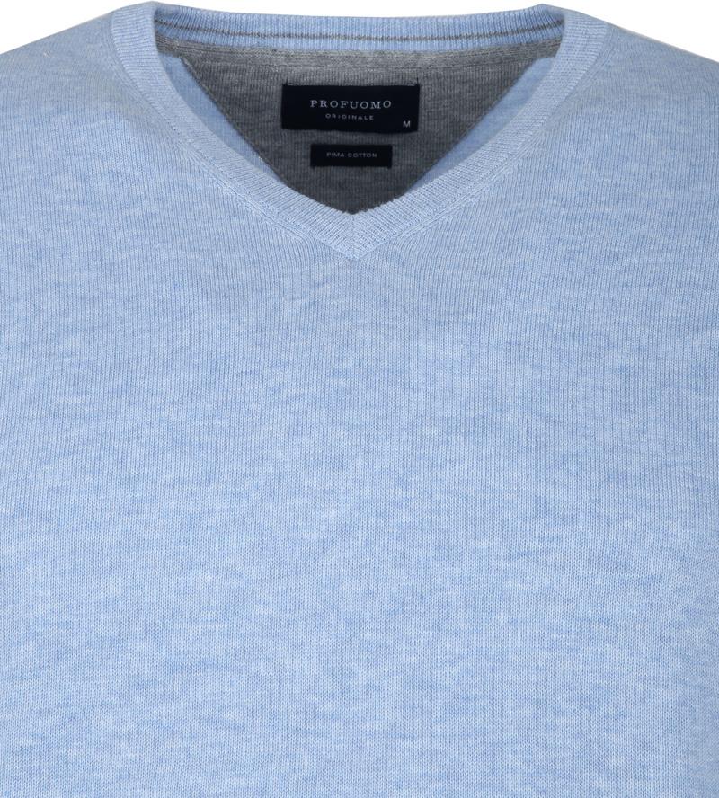 Profuomo Pullover V-Neck Light Blue photo 1