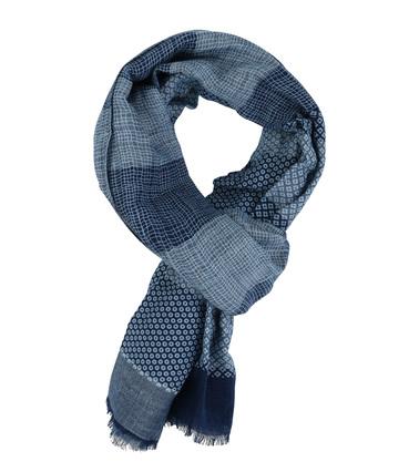 Profuomo Schal Blau Dessin  online kaufen   Suitable