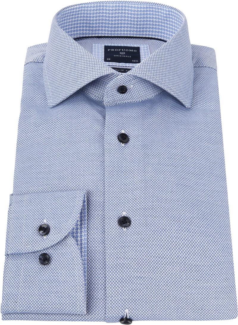 Profuomo SF Overhemd Blauw Dessin foto 2