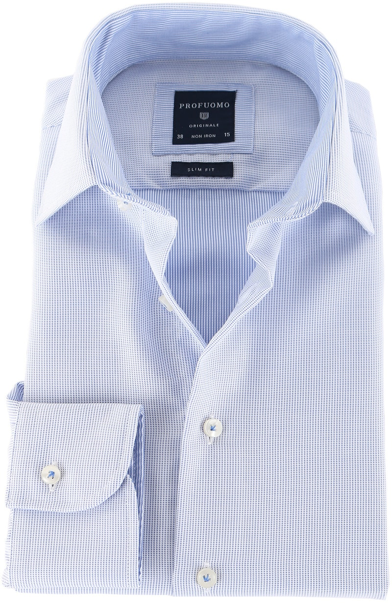 Profuomo Shirt Blauwe Pinpoint  online bestellen | Suitable