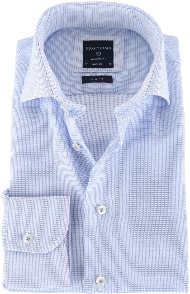 Profuomo Shirt Blauwe ruit  online bestellen | Suitable