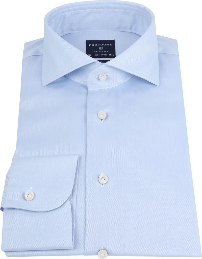 Profuomo Shirt Cutaway Blue photo 2