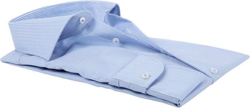 Profuomo Shirt Cutaway Blue Checkered
