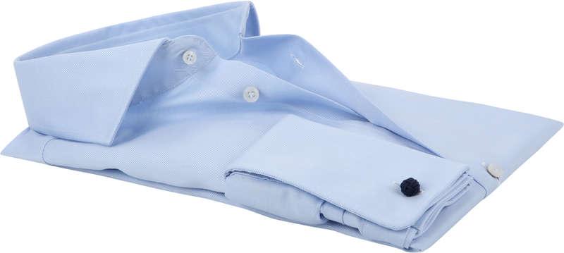 Profuomo Shirt Cutaway Double Cuff Blue photo 3