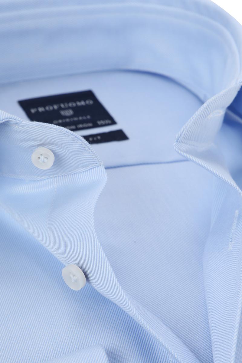 Profuomo Shirt Cutaway Double Cuff Blue photo 1
