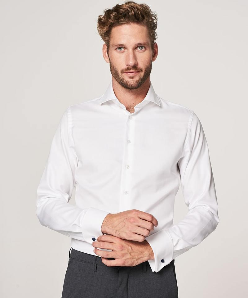 Profuomo Shirt Cutaway Dubbel Manchet Wit