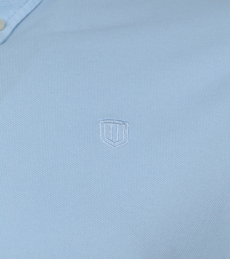 Profuomo Shirt Garment Dyed Button Down Light Blue