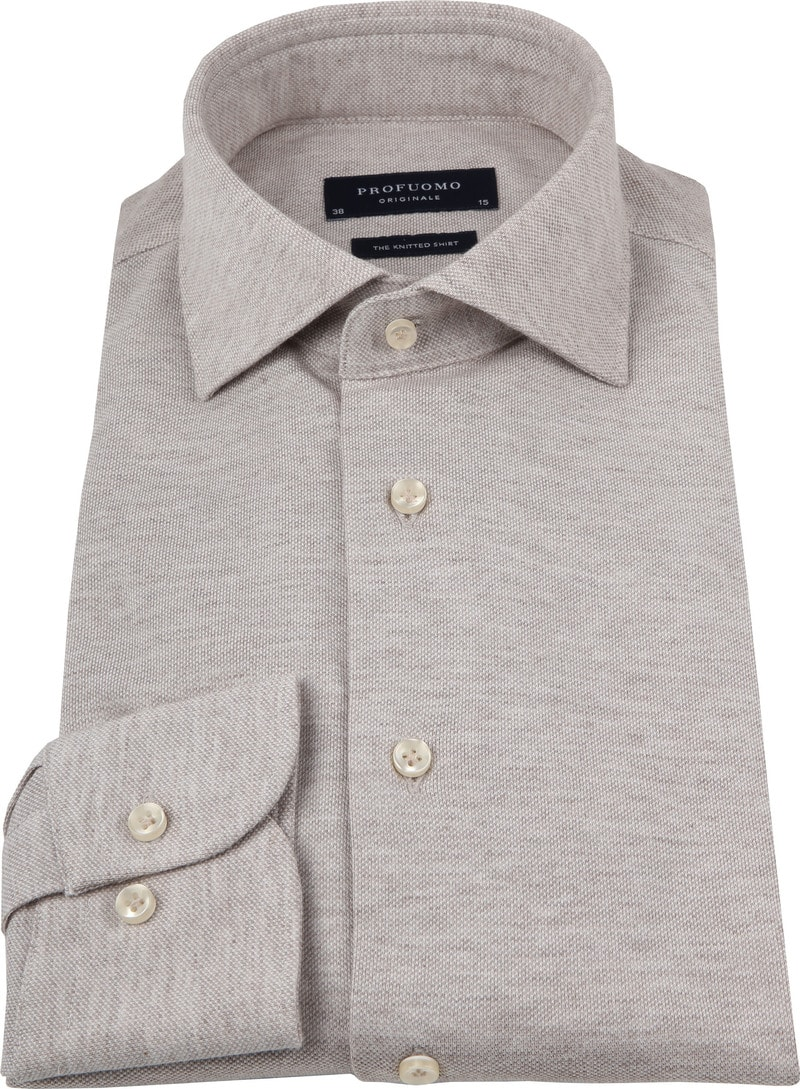 Profuomo Shirt Knitted Beige photo 2