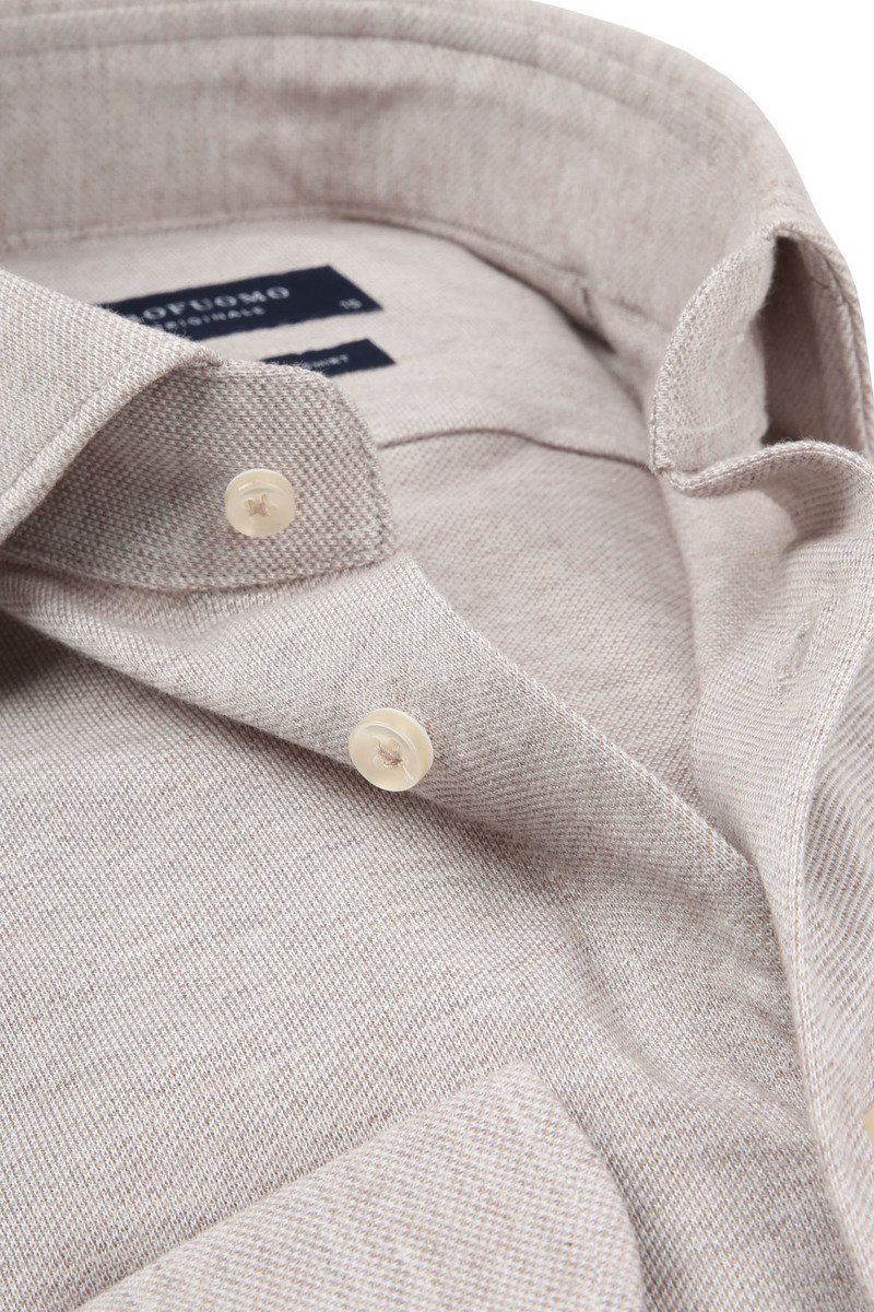 Profuomo Shirt Knitted Beige photo 1