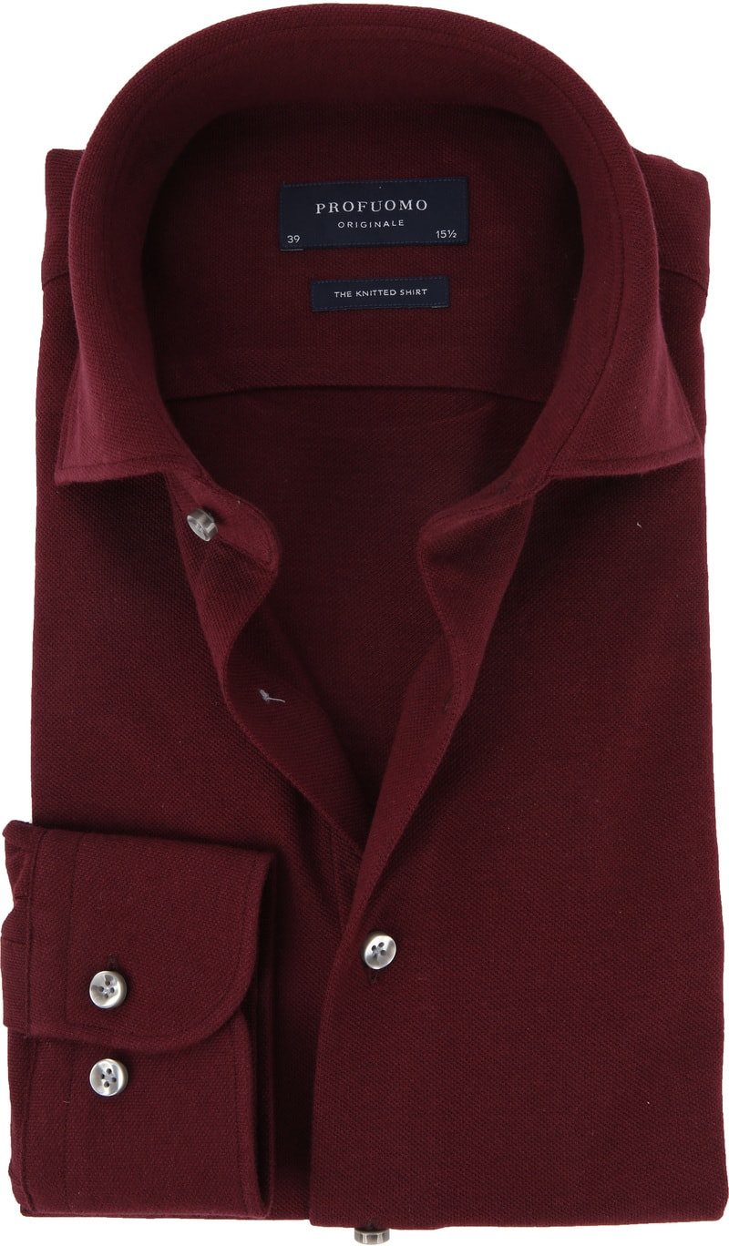 Profuomo Shirt Knitted Bordeaux photo 0