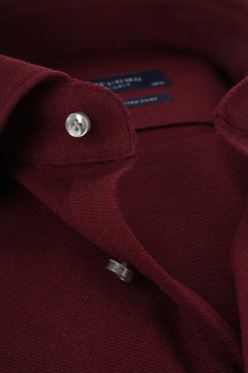 Profuomo Shirt Knitted Bordeaux photo 1