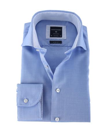 Detail Profuomo Shirt Non Iron Blauw