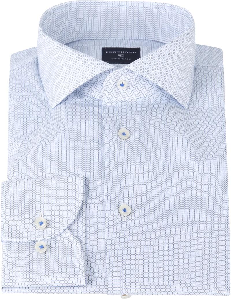 Profuomo Shirt SF Poplin Checkered blue