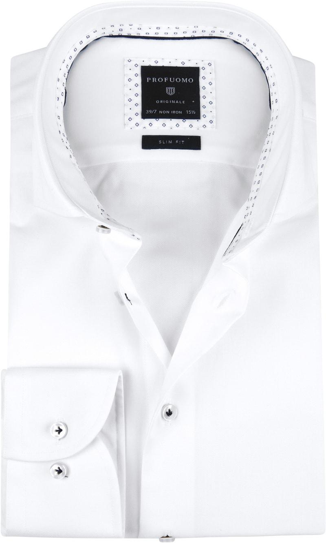 Heren Profuomo Shirt SF Printed White