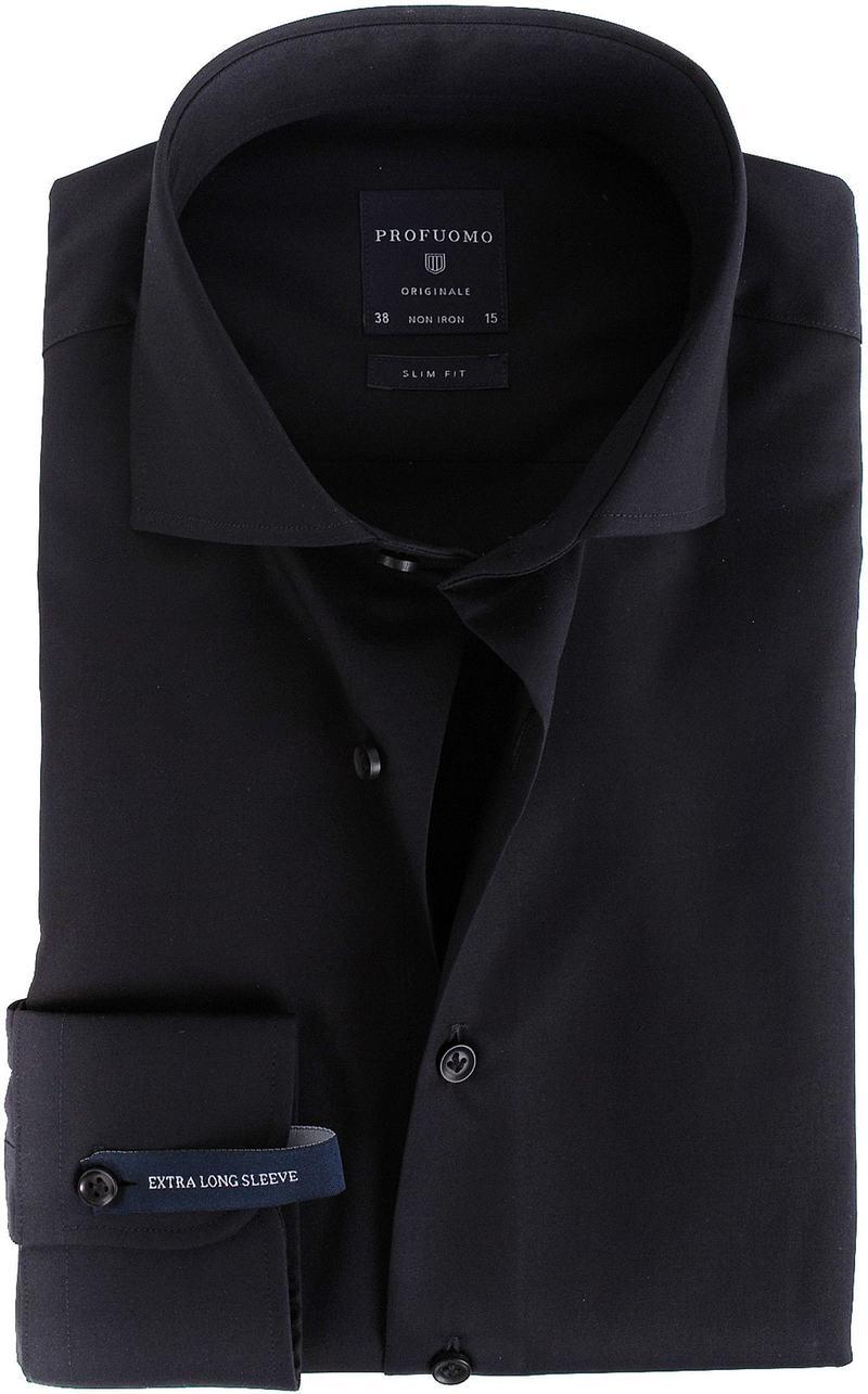 Profuomo Shirt SL7 Cutaway Zwart