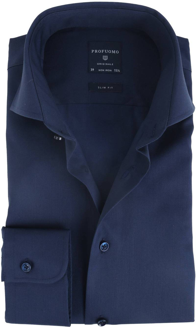Profuomo Shirt Slim Fit Navy photo 0