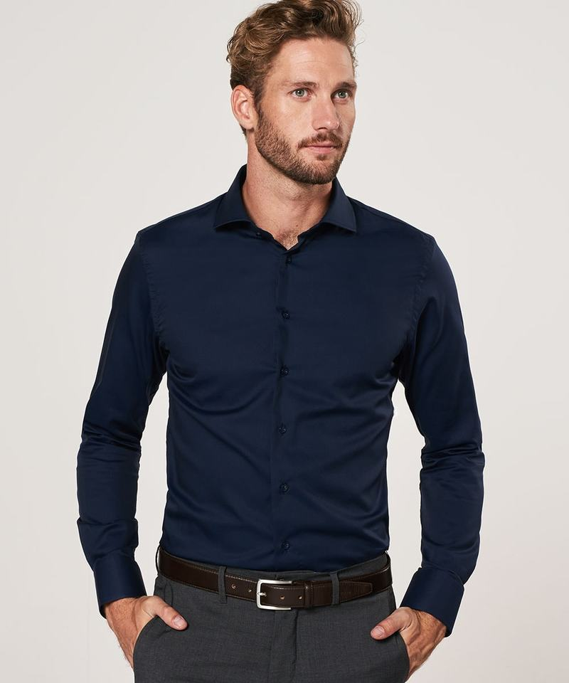 Profuomo Shirt Slim Fit Navy photo 4