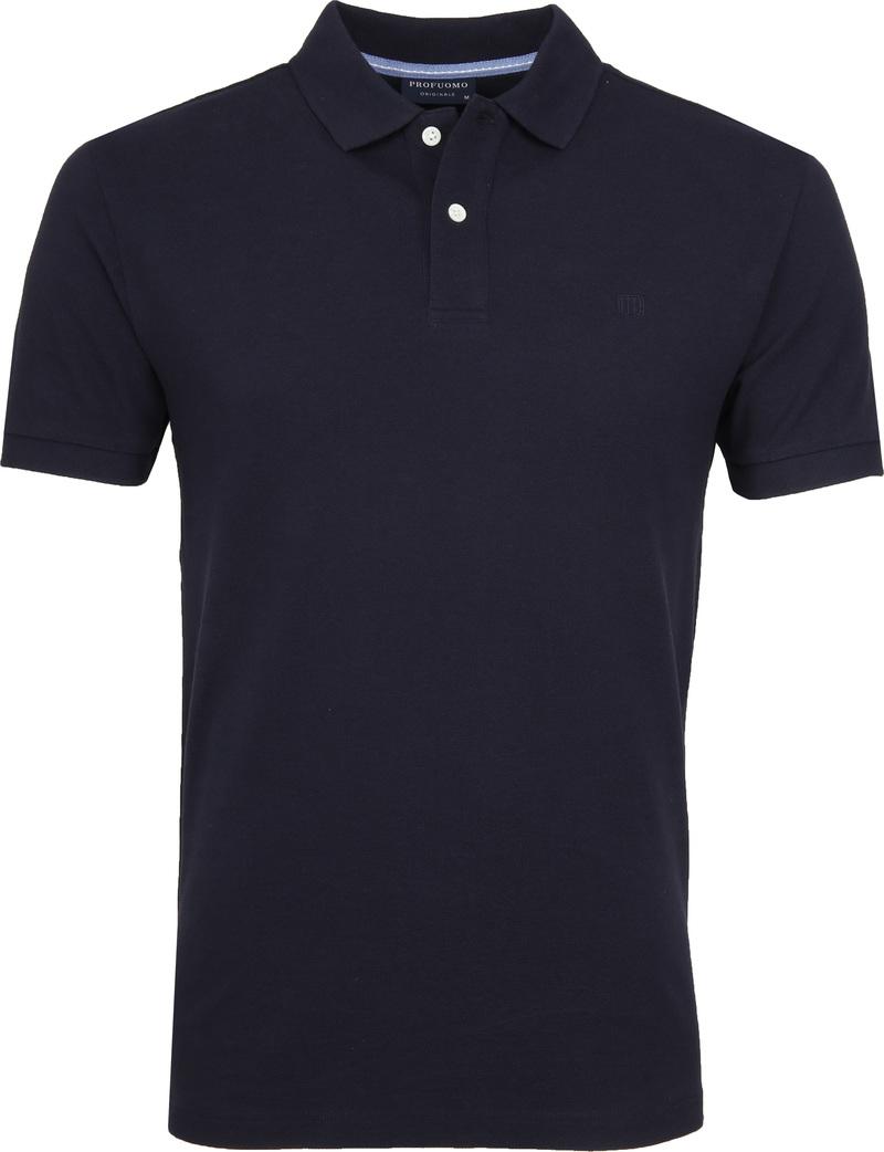 Profuomo Short Sleeve Poloshirt Dunkelblau Foto 0
