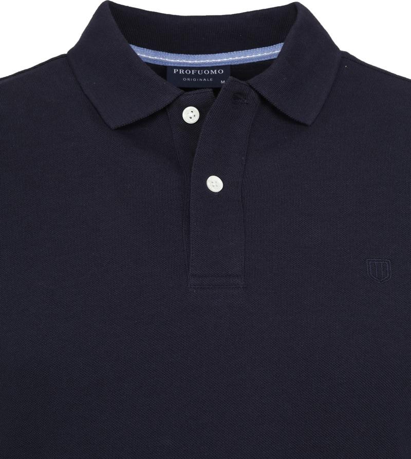 Profuomo Short Sleeve Poloshirt Dunkelblau Foto 1
