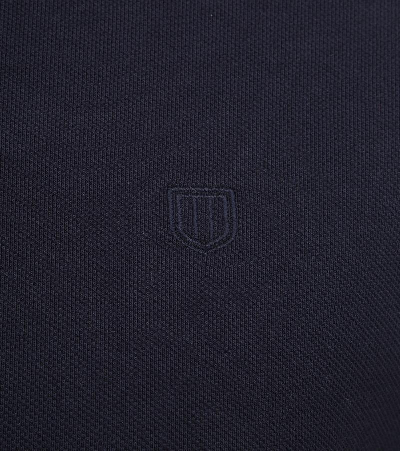Profuomo Short Sleeve Poloshirt Dunkelblau Foto 2
