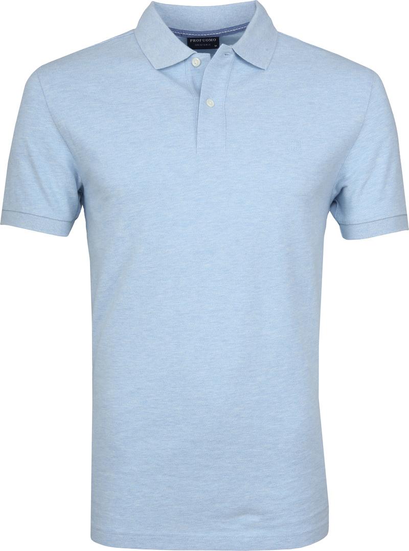 Profuomo Short Sleeve Poloshirt Hellblau Foto 0