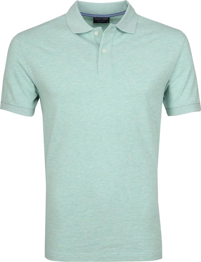 Profuomo Short Sleeve Poloshirt Hellgrün Foto 0