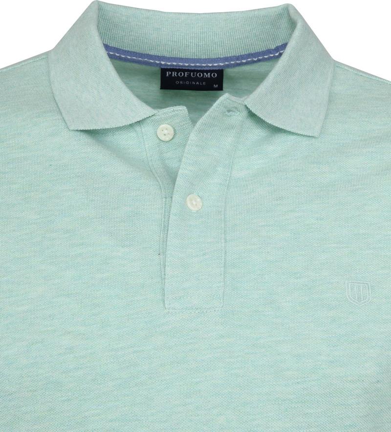 Profuomo Short Sleeve Poloshirt Hellgrün Foto 1
