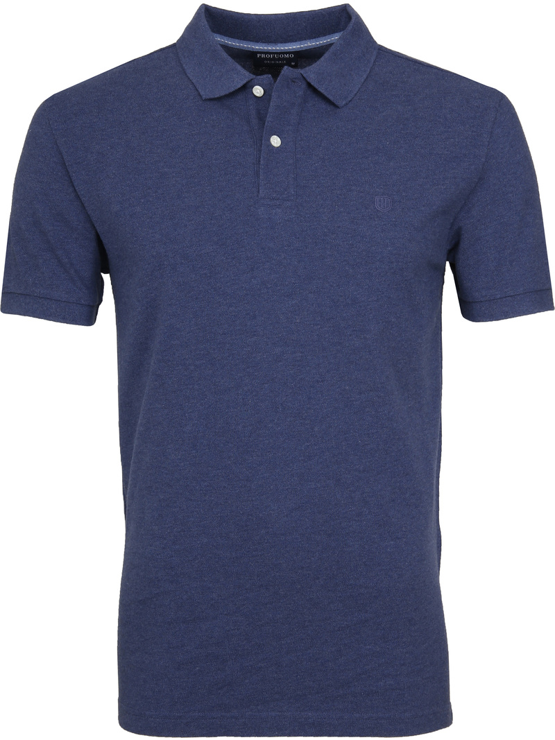 Profuomo Short Sleeve Poloshirt Indigo photo 0