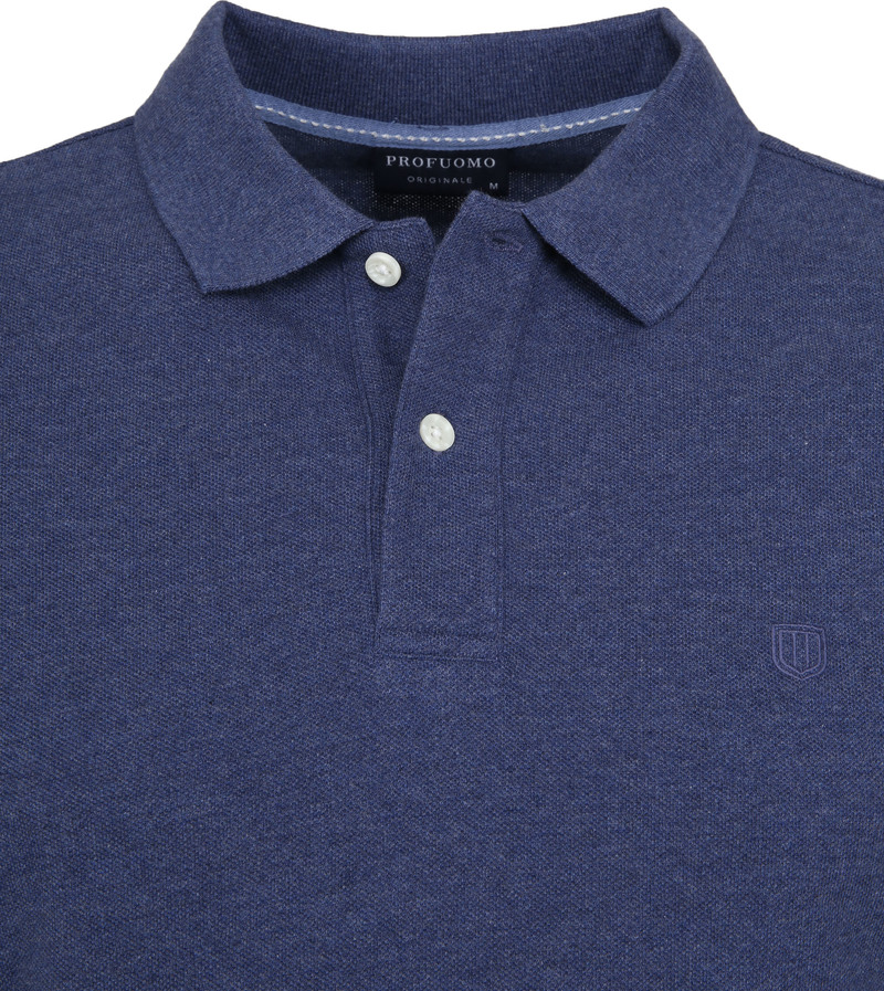 Profuomo Short Sleeve Poloshirt Indigo photo 1