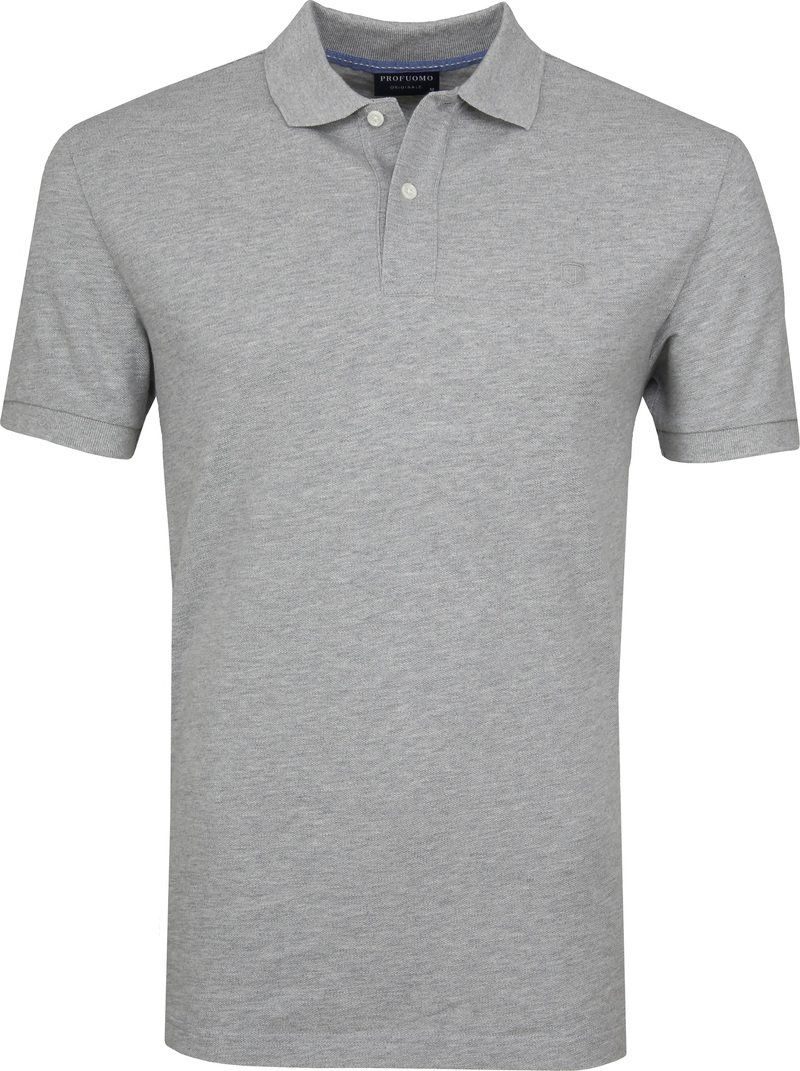 Profuomo Short Sleeve Poloshirt Light Grey photo 0