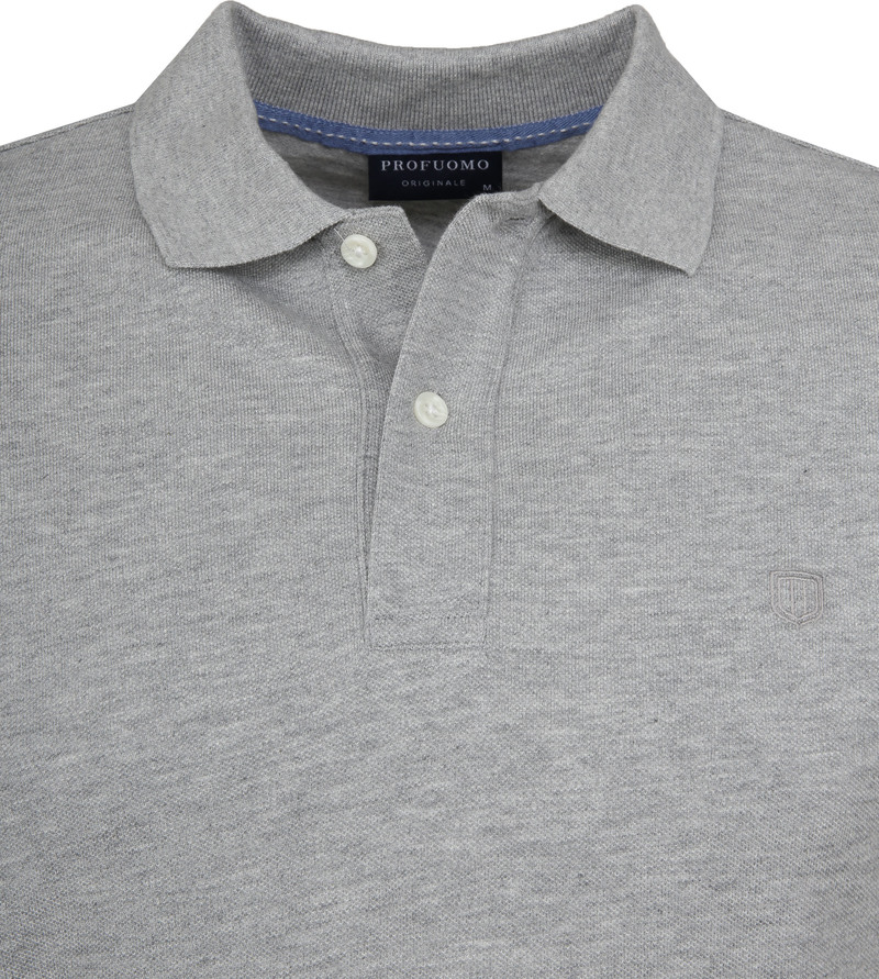 Profuomo Short Sleeve Poloshirt Light Grey photo 1