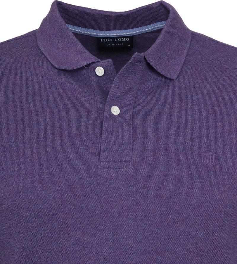 Profuomo Short Sleeve Poloshirt Lila Foto 1