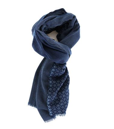 Profuomo Sjaal Blauw Dessin  online bestellen | Suitable