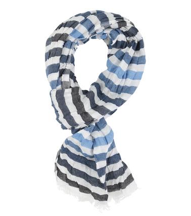 Profuomo Sjaal Blauw Wit Streep  online bestellen | Suitable