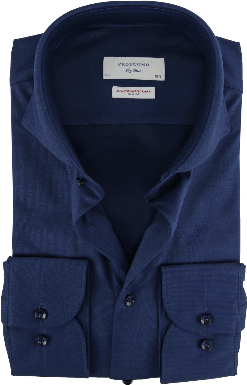 Profuomo Sky Blue Japanese Knitted Navy foto 0
