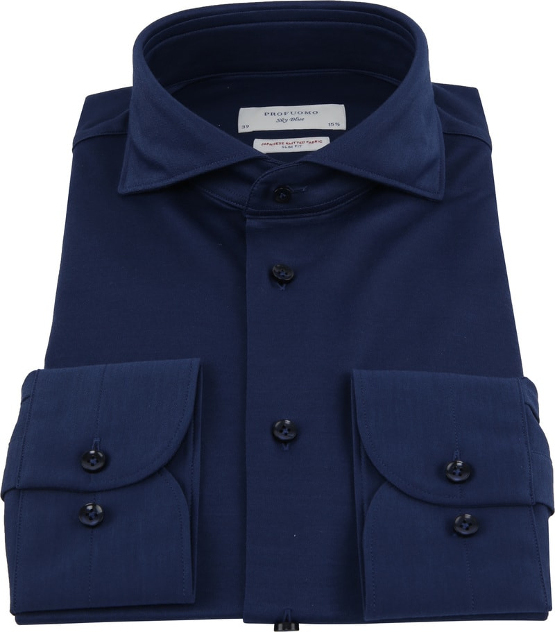 Profuomo Sky Blue Japanese Knitted Navy foto 2
