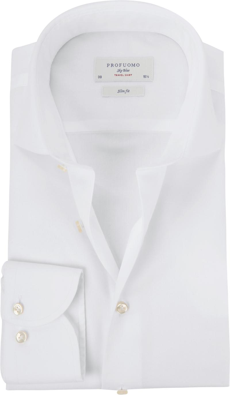 Profuomo Sky Blue Travel Shirt Weiß Foto 0