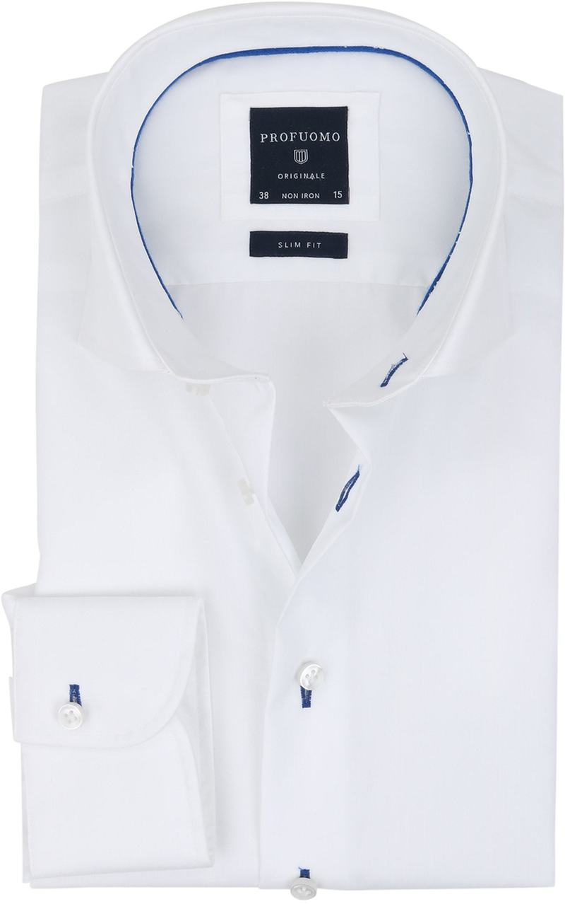 Profuomo Slim Fit Overhemd Wit Non Iron  online bestellen | Suitable