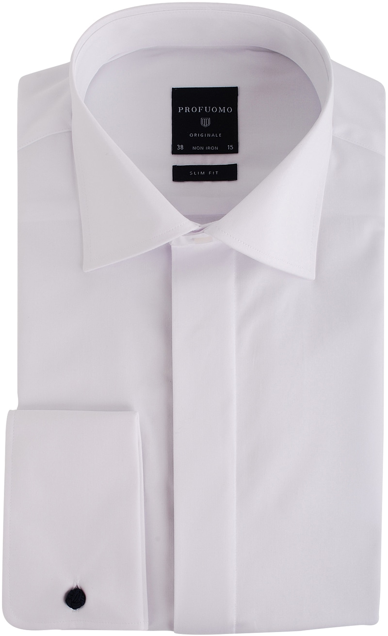 Profuomo Smokingoverhemd Slim Fit Wit | Smoking shirt
