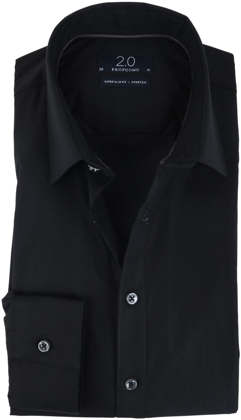 Profuomo Strijkvrij Overhemd Zwart