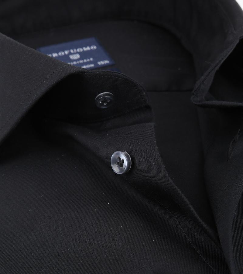 Profuomo Strijkvrij Overhemd Zwart foto 1