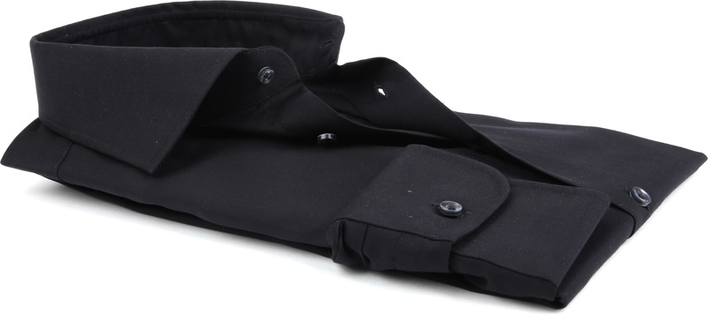 Profuomo Strijkvrij Overhemd Zwart foto 3